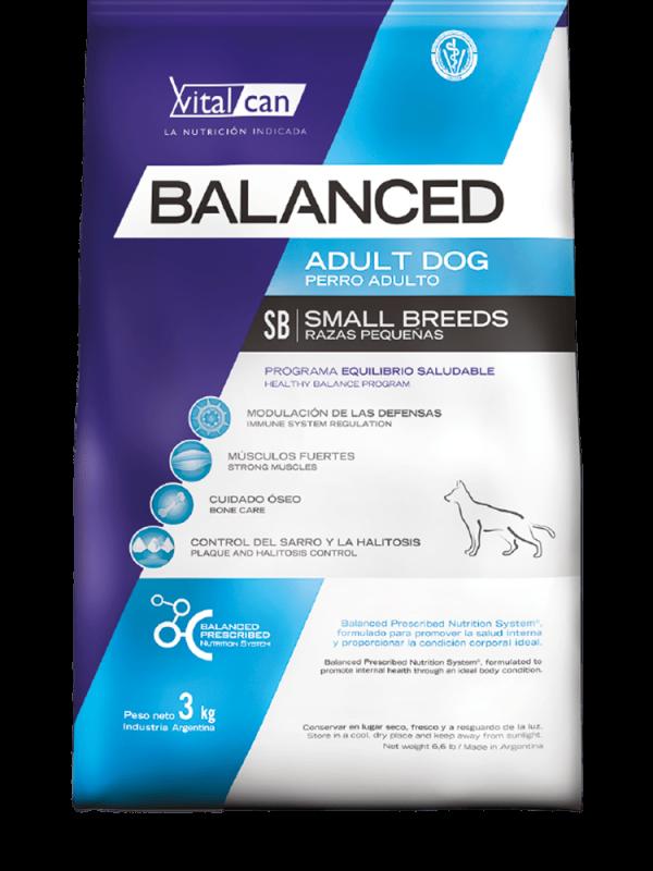 Balanced perro adulto razas pequeñas