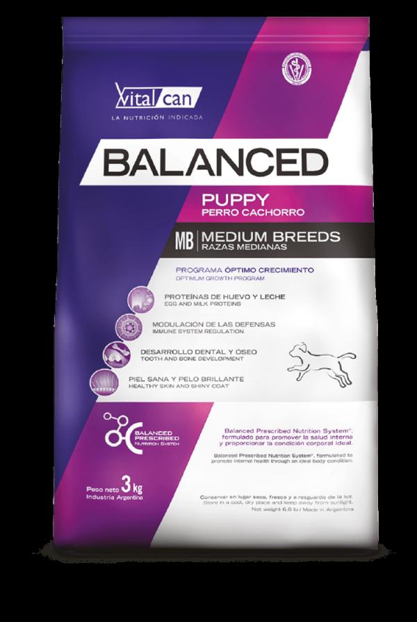 Balanced perro cachorro mediano envase