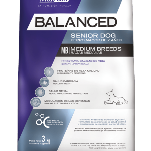 Balanced envase perro senior raza mediana