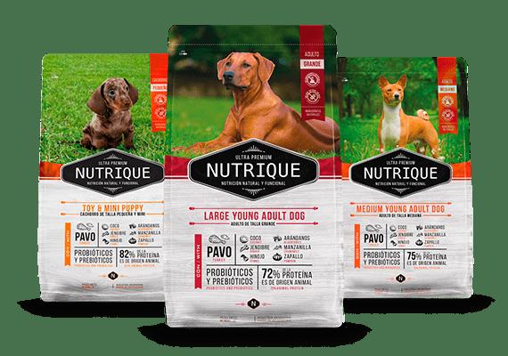 Envase marca nutrique perro