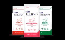 Envase marca Therapy perro