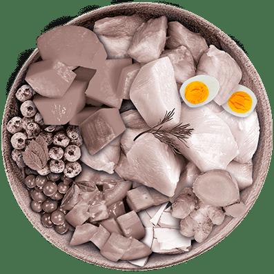 Nutrique - Bowl Gato Ingredientes Huevo