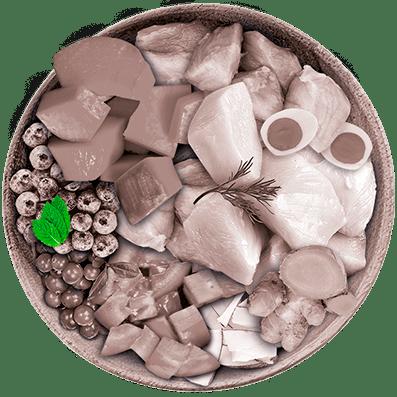 Nutrique - Bowl Gato Ingredientes Menta