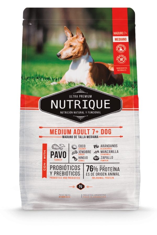 Nutrique Perro - Envase - Medium Adult 7+ Dog